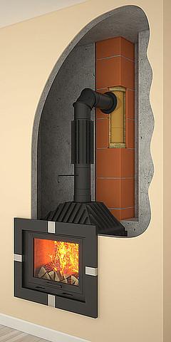Przyłącza kominowe z czarnej stali